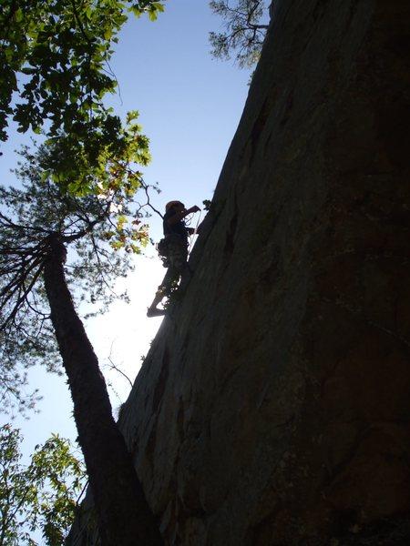Rock Climbing Photo: Up on the face. (Paul Barnes' photo. )