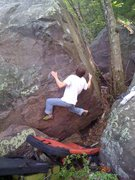Rock Climbing Photo: Opening moves. Sweet drop knee.