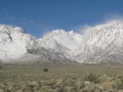 Rock Climbing Photo: Whitney Portal/Alabama Hills looking snowy, March ...