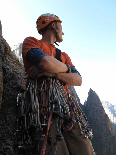 Rock Climbing Photo: scurrred in the Black Canyon