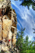 Rock Climbing Photo: Blinsided. Roofs, Hell Wall, and crazy sky. Photo:...