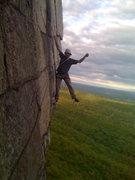 Rock Climbing Photo: Having fun leading CCK