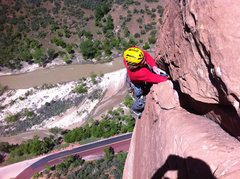 Rock Climbing Photo: (c) ari menitove's Iphone  last few moves of Banan...