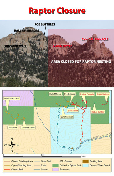 Rock Climbing Photo: Cathedral Spires Raptor Closure