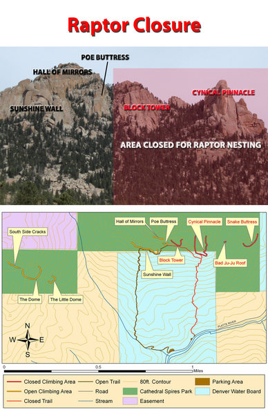 Rock Climbing Photo: Cathedral Spires Raptor Closure, as of May 14, 201...
