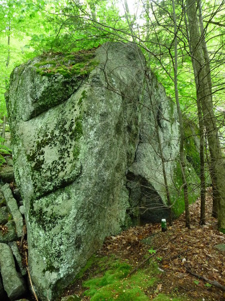 Rock Climbing Photo: mystical boulder, in the middle of far side creek ...