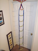 Rock Climbing Photo: Homemade aid ladder.