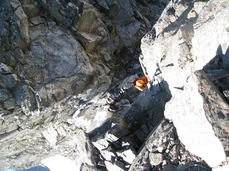View climbing Mt Moran, Grand Tetons