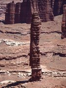 Rock Climbing Photo: From White Rim looking at the route