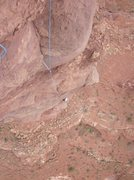 Rock Climbing Photo: Following the crux pitch. Exposed