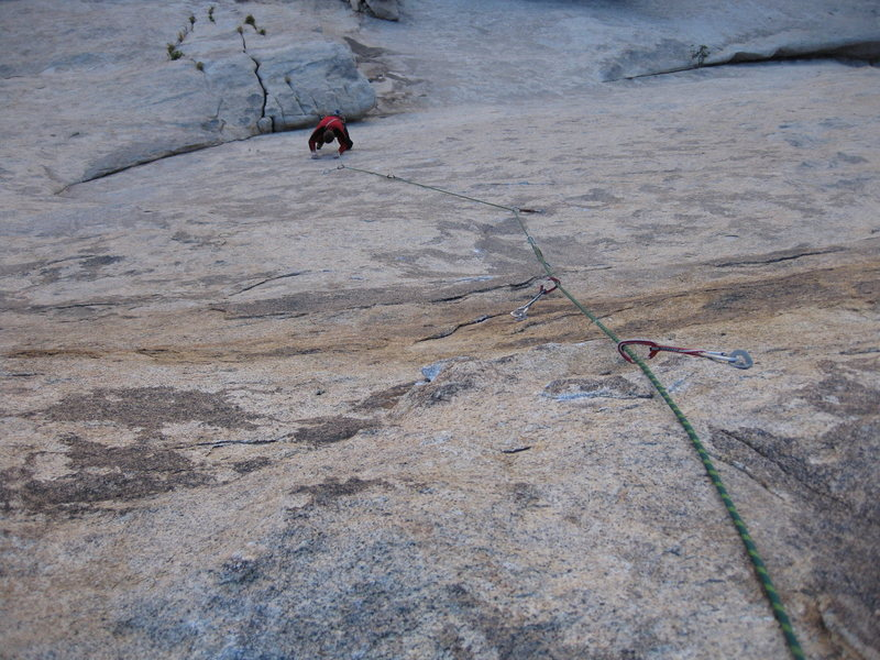 Rock Climbing Photo: Dave following Harley Queen - a great pitch!