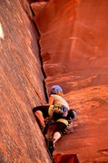Rock Climbing Photo: Carling approaching the final enduro jamming secti...