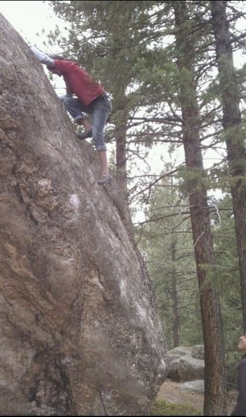 Rock Climbing Photo: The top section.