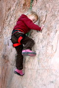 Rock Climbing Photo: My 3 year old daughter on her first climb.