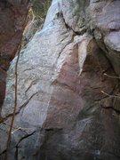 "Rock Climbing Photo: Entrance V0 boulder problem move of ""Hissing ..."