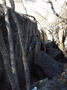 Rock Climbing Photo: Boulder in the Butt V2  November 1, 2009  The name...