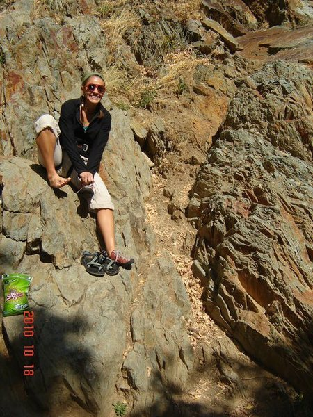 Rock Climbing Photo: first climb
