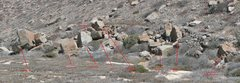 Rock Climbing Photo: Full overview of the La Poza beach boulders.
