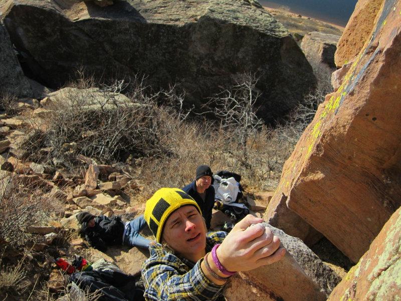 Rock Climbing Photo: Curving Crack V0