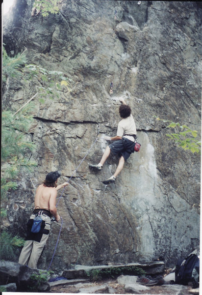 My First 5.12<br> <br> Rumney, New Hampshire 2001