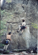 Rock Climbing Photo: My First 5.12  Rumney, New Hampshire 2001