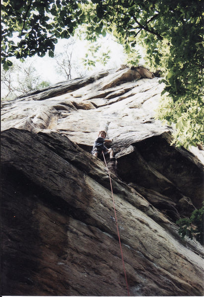 Discombobulated 5.11a/b<br> <br> Endless Wall New River Gorge, West Virginia 2004