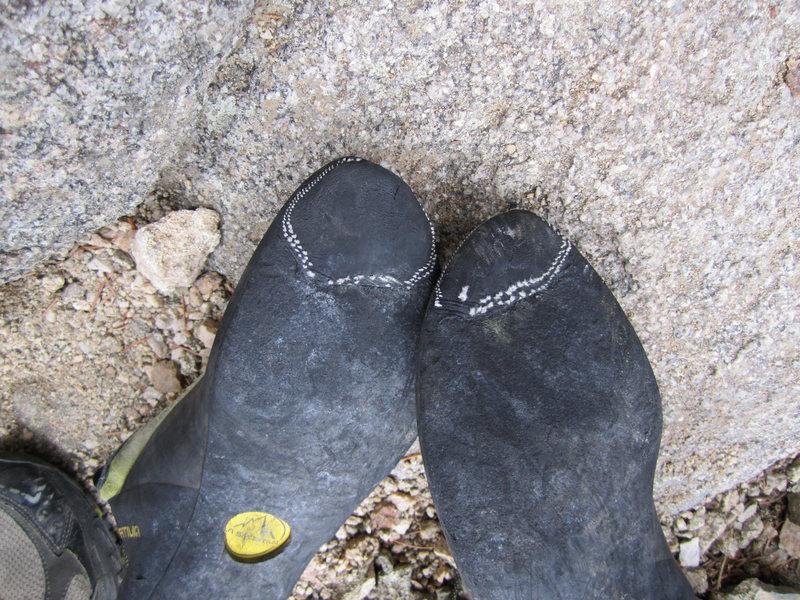 Rock Climbing Photo: Tire shoe rubber