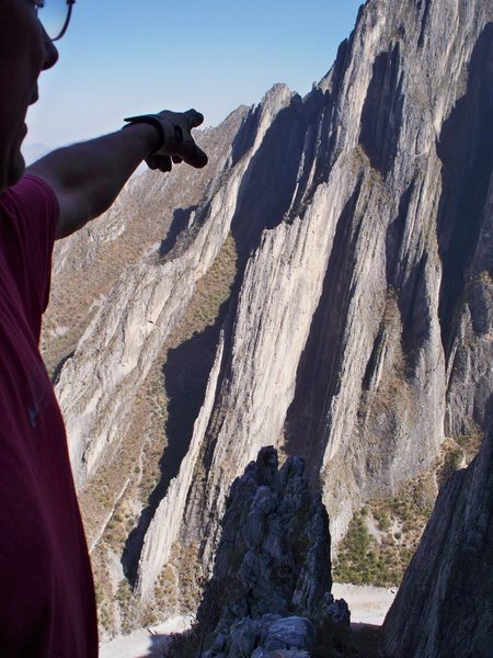 Rock Climbing Photo: Chris Martinez enjoys the view to the East from th...