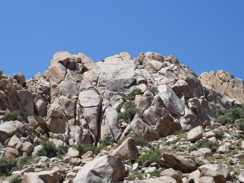 Rock Climbing Photo: Euhedral (5.7), Joshua Tree NP