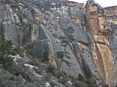 Rock Climbing Photo: Looking back at the Shadow Wall from an up-canyon ...