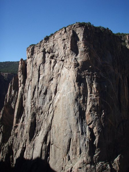 Rock Climbing Photo: Evening light on Chasm View - taken from Major Tom...