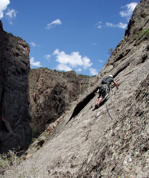 Rock Climbing Photo: The P3 traverse.