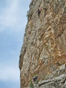Rock Climbing Photo: Getting close to the end.  Photo: Christian Rodenb...
