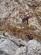 Rock Climbing Photo: The start of the route. Note the puffy on Canada E...