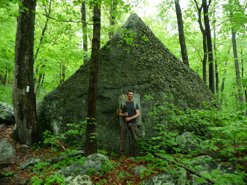 upper twin boulder, trailside area, stateline.