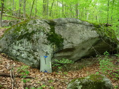 Rock Climbing Photo: welcome roof boulder, logging road