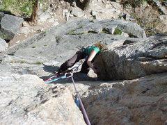 Rock Climbing Photo: 1st pitch crux...