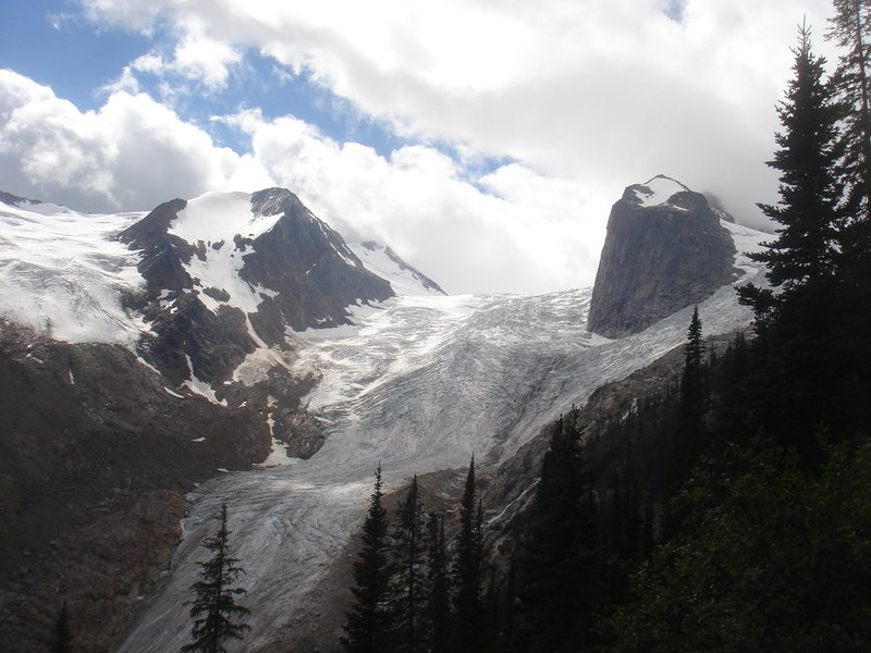Lower end of Bugaboo Glacier.