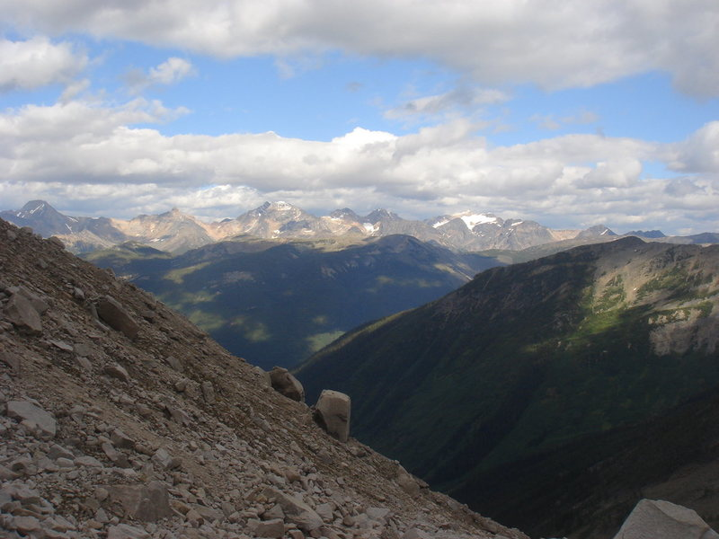 Another look at the Rockies, from the trek up to the Bugaboo/Snowpatch col.