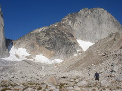 Rock Climbing Photo: Bugaboo Spire, hiking up to the col.