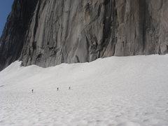 Rock Climbing Photo: Glacier travel instruction at the base of Snowpatc...