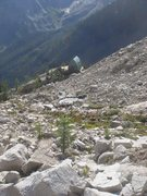 Rock Climbing Photo: Looking down the talus slope; another view of the ...