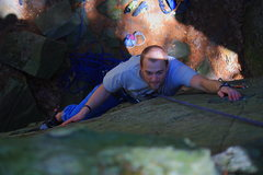 Rock Climbing Photo: Jason Rice smiling his way up this classic route