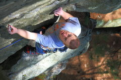 Rock Climbing Photo: Nick on one of his first leads. Great route for a ...