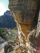 Rock Climbing Photo: Clay giving it first go. Photo by Tom Johannesmeye...