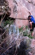 Rock Climbing Photo: Enjoyin the alternate left start to the Seamstress...