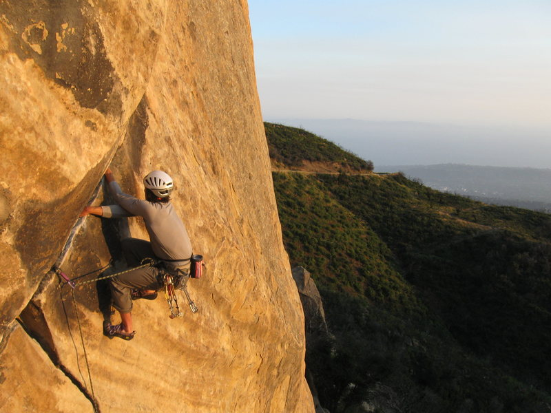 Rock Climbing Photo: Richard Shore on T-Crack. Photo by Michael Stearns...