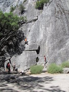 Rock Climbing Photo: Grant's Crack is a very popular climb, and usually...
