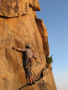 Rock Climbing Photo: Milking a no-hands rest just before the business..