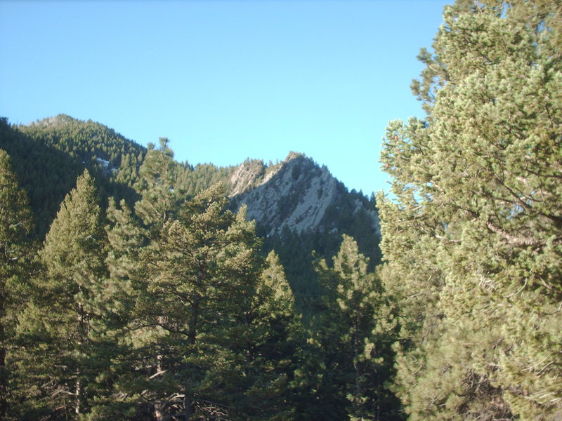 Unknown Rock viewed from Bear Canyon.